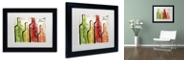 "Trademark Global Color Bakery 'Wine Tasting I' Matted Framed Art, 11"" x 14"""