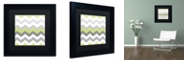 "Trademark Global Color Bakery 'Calyx Chevron' Matted Framed Art, 11"" x 11"""