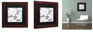 "Trademark Global Color Bakery 'Calyx Floral' Matted Framed Art, 11"" x 11"""