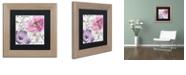 "Trademark Global Color Bakery 'Fleurs De France I' Matted Framed Art, 11"" x 11"""