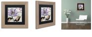 "Trademark Global Color Bakery 'Dogwood Ii' Matted Framed Art, 11"" x 11"""