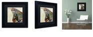 "Trademark Global Color Bakery 'Pear Brocade I' Matted Framed Art, 11"" x 11"""