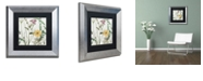 "Trademark Global Color Bakery 'Softly I' Matted Framed Art, 11"" x 11"""