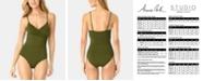 Anne Cole Live In Color Surplice One-Piece Swimsuit