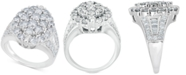 Macy's Diamond Oval Cluster Ring (4 ct. t.w.) in 14k White Gold