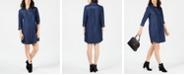 Karen Scott Plus Size Cotton Chambray Shirtdress, Created for Macy's
