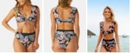 Raisins Indo Bloom Printed Ibiza Bikini Top & Indo Bloom Printed Tropics Cheeky High-Waist Bottoms