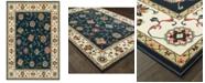 """Oriental Weavers Kashan 2336B Navy/Ivory 3'10"""" x 5'5"""" Area Rug"""