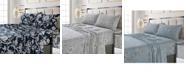 Tribeca Living Colmar Printed 300 Thread Count Cotton Sateen Extra Deep Pocket Sheet Set Twin Sheet Set