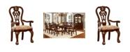 Furniture of America Wilson Brown Cherry Armchair (Set of 2)