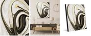 "Creative Gallery Howlite and Onyx Abstract 20"" x 24"" Acrylic Wall Art Print"