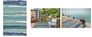 """Kas Harbor Lagoon 4216 Ocean 7'6"""" x 9'6"""" Indoor/Outdoor Area Rug"""