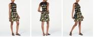 Michael Kors Contrast Stripe Printed Dress, Regular & Petite