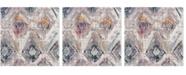 Safavieh Bristol Lavender and Light Gray 7' x 7' Square Area Rug