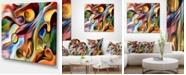 """Design Art Designart Music Beyond The Frames Music Canvas Art Print - 40"""" X 30"""""""