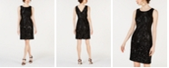 Calvin Klein Embroidered Sequin Sheath Dress