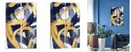 "Artissimo Designs Rotunda 2 Pc Hand Embellished Canvas Art - 11"" W x 28"" H x 2.5"" D"