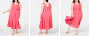 Betsey Johnson Plus Size Shoulder-Tie Midi Dress