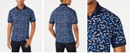 Club Room Men's Moisture-Wicking Printed Polo, Created for Macy's