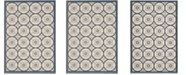 "Safavieh Courtyard Beige and Navy 5'3"" x 7'7"" Sisal Weave Area Rug"