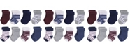 Hudson Baby Terry Roll Cuff Socks, 8-Pack, 0-24 Months