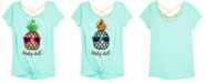 Beautees Big Totally Chill Girls Reversible Sequin Top