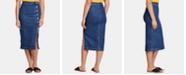 Free People Jasmine High-Waisted Denim Pencil Skirt