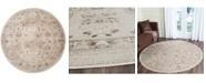 "Safavieh Vintage Light Gray and Ivory 6'7"" x 6'7"" Round Area Rug"
