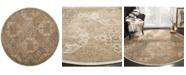 Safavieh Vintage Beige and Cream 6' x 6' Round Area Rug