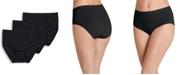 Jockey Women's 3-Pk. Seamfree® Breathe Knit Brief Underwear 1681