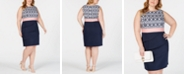 Connected Plus Size Tiered Bodycon Dress