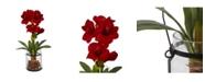 "Nearly Natural 24"" Amaryllis w/Vase"
