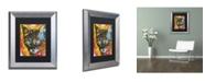 """Trademark Global Dean Russo 'Intent' Matted Framed Art - 14"""" x 11"""" x 0.5"""""""