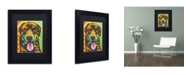 "Trademark Global Dean Russo 'Rottie Pup' Matted Framed Art - 11"" x 14"" x 0.5"""