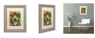 "Trademark Global Dean Russo 'Rottie Pup' Matted Framed Art - 14"" x 11"" x 0.5"""