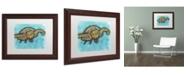 "Trademark Global Dean Russo 'Turtle' Matted Framed Art - 14"" x 11"" x 0.5"""