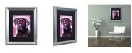 "Trademark Global Dean Russo 'Black Lab' Matted Framed Art - 20"" x 16"" x 0.5"""