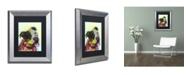 """Trademark Global Dean Russo 'Pure Joy' Matted Framed Art - 14"""" x 11"""" x 0.5"""""""