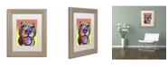 "Trademark Global Dean Russo 'Bark Don't Bite' Matted Framed Art - 14"" x 11"" x 0.5"""