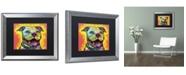 "Trademark Global Dean Russo 'Dewey Pit Bull' Matted Framed Art - 20"" x 16"" x 0.5"""