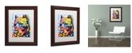"""Trademark Global Dean Russo 'Smokey' Matted Framed Art - 14"""" x 11"""" x 0.5"""""""