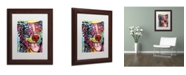 """Trademark Global Dean Russo 'Dak 1' Matted Framed Art - 14"""" x 11"""" x 0.5"""""""