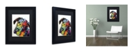"Trademark Global Dean Russo 'Tilted Dane' Matted Framed Art - 11"" x 14"" x 0.5"""