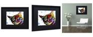 """Trademark Global Dean Russo 'The Pop Cat' Matted Framed Art - 16"""" x 20"""" x 0.5"""""""