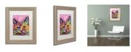 """Trademark Global Dean Russo 'Beast' Matted Framed Art - 14"""" x 11"""" x 0.5"""""""