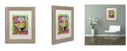 "Trademark Global Dean Russo 'Cursio' Matted Framed Art - 14"" x 11"" x 0.5"""