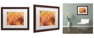 "Trademark Global Cora Niele 'Orange Tulips' Matted Framed Art - 20"" x 16"" x 0.5"""
