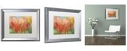 "Trademark Global Cora Niele 'Orange Wings Tulips' Matted Framed Art - 20"" x 16"" x 0.5"""