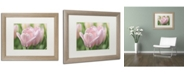 "Trademark Global Cora Niele 'Pink Tulip Baronesse' Matted Framed Art - 20"" x 16"" x 0.5"""