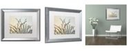 """Trademark Global Cora Niele 'Dewy Grass' Matted Framed Art - 20"""" x 16"""" x 0.5"""""""